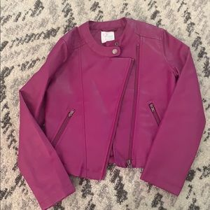 Children's Place faux leather jacket